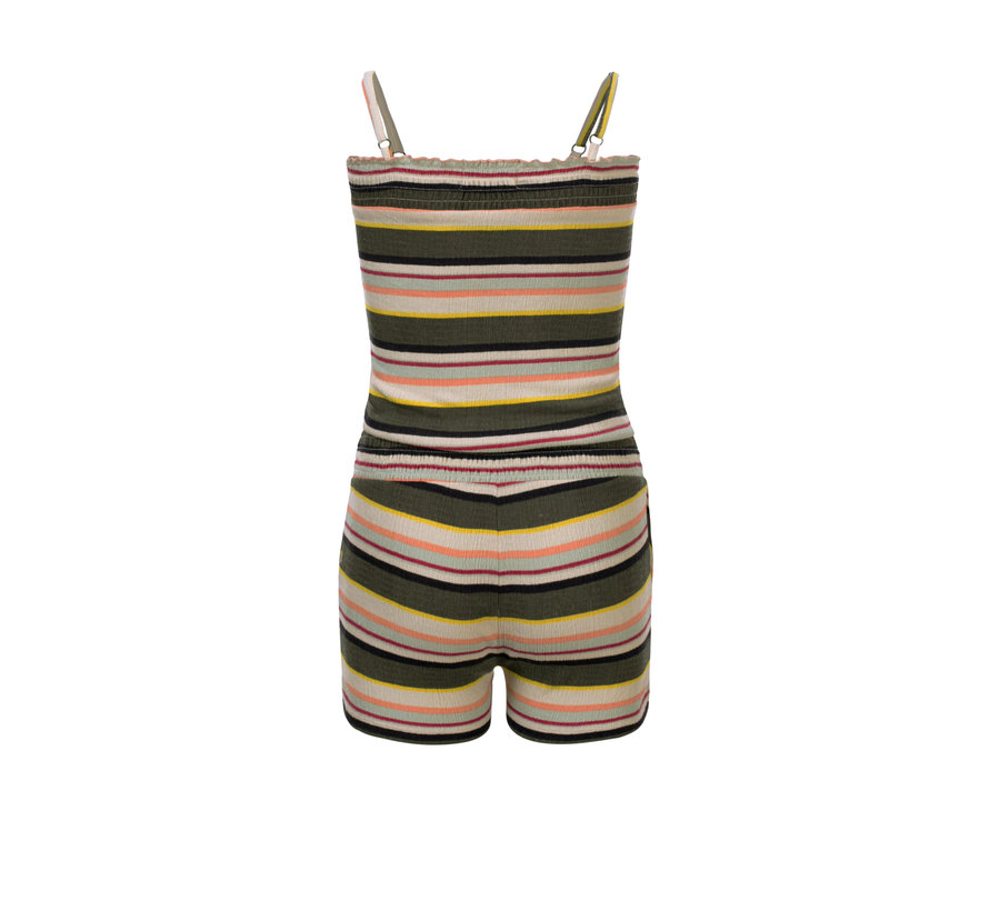 Looxs - Girls short jumpsuit - printed stripe