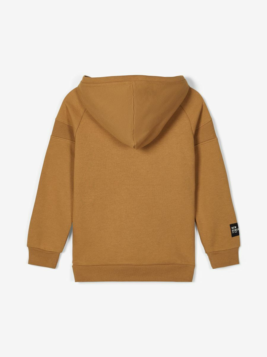 NAME IT KIDS - NKMROMAN LS SWEAT W. HOOD BRU - Medal Bronze