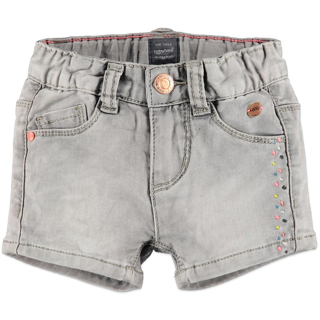 Babyface - girls jogg jeans short - LIGHT GREY DENIM - 108226