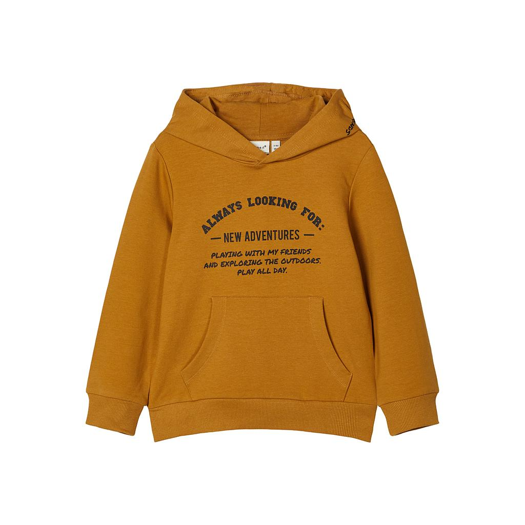 NAME IT MINI - NMMLANIS LS SWEAT WH UNB - Medal Bronze