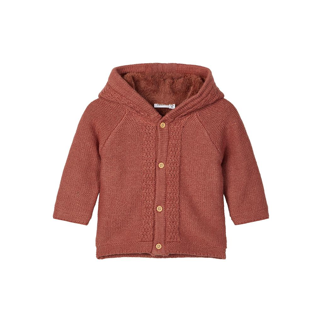 NAME IT BABY - NBNNALIX KNIT JACKET - Burnt Brick
