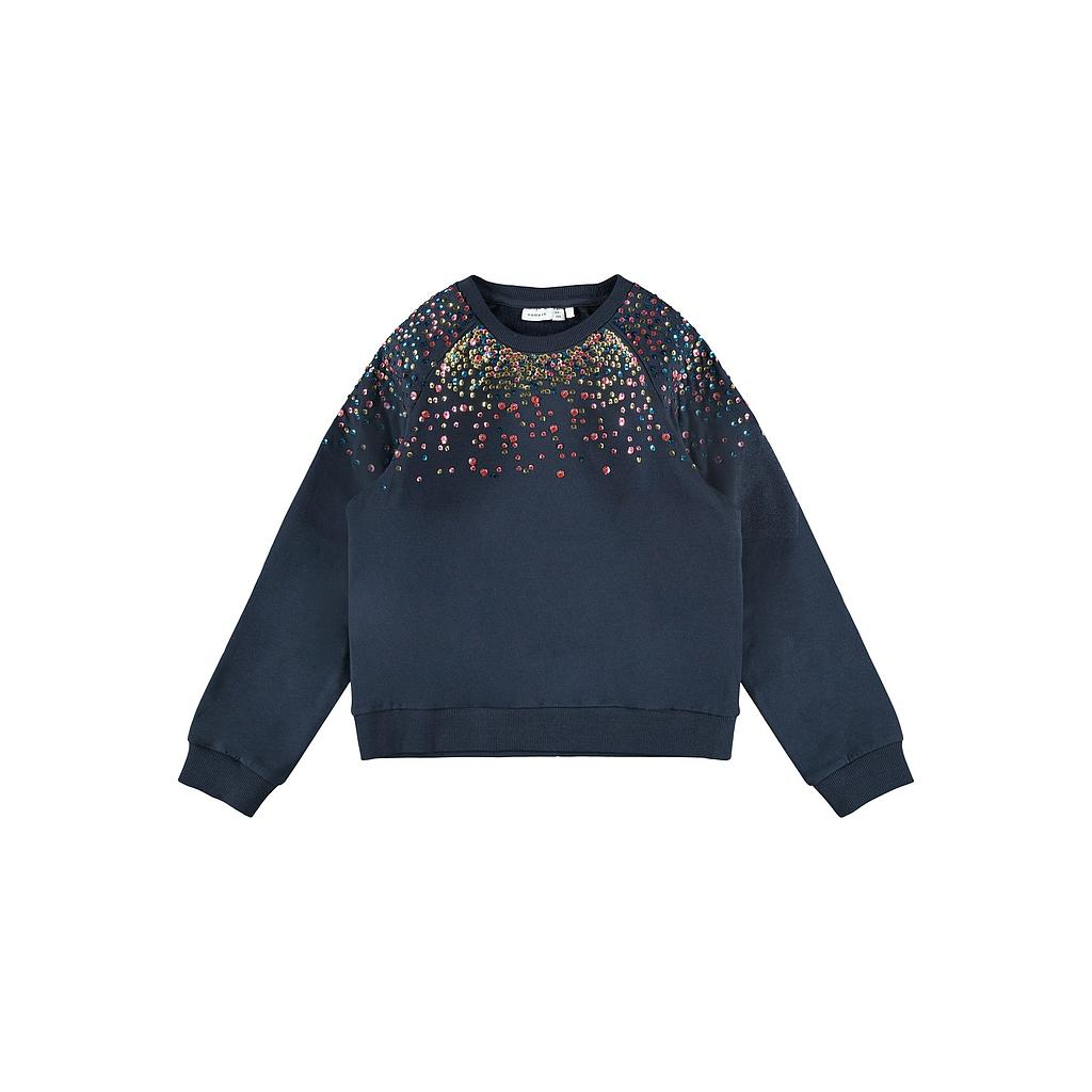 NAME IT KIDS - NKFNAIMMA LS SWEAT BRU - Dark Sapphire