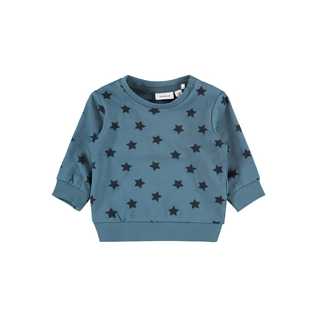 NAME IT BABY - NBMTILOP LS LIGHT SWEAT UNB - Real Teal