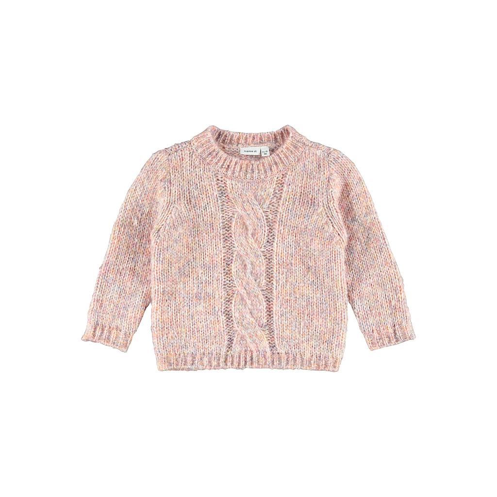 NAME IT MINI - NMFSETTE LS KNIT - Peach Whip