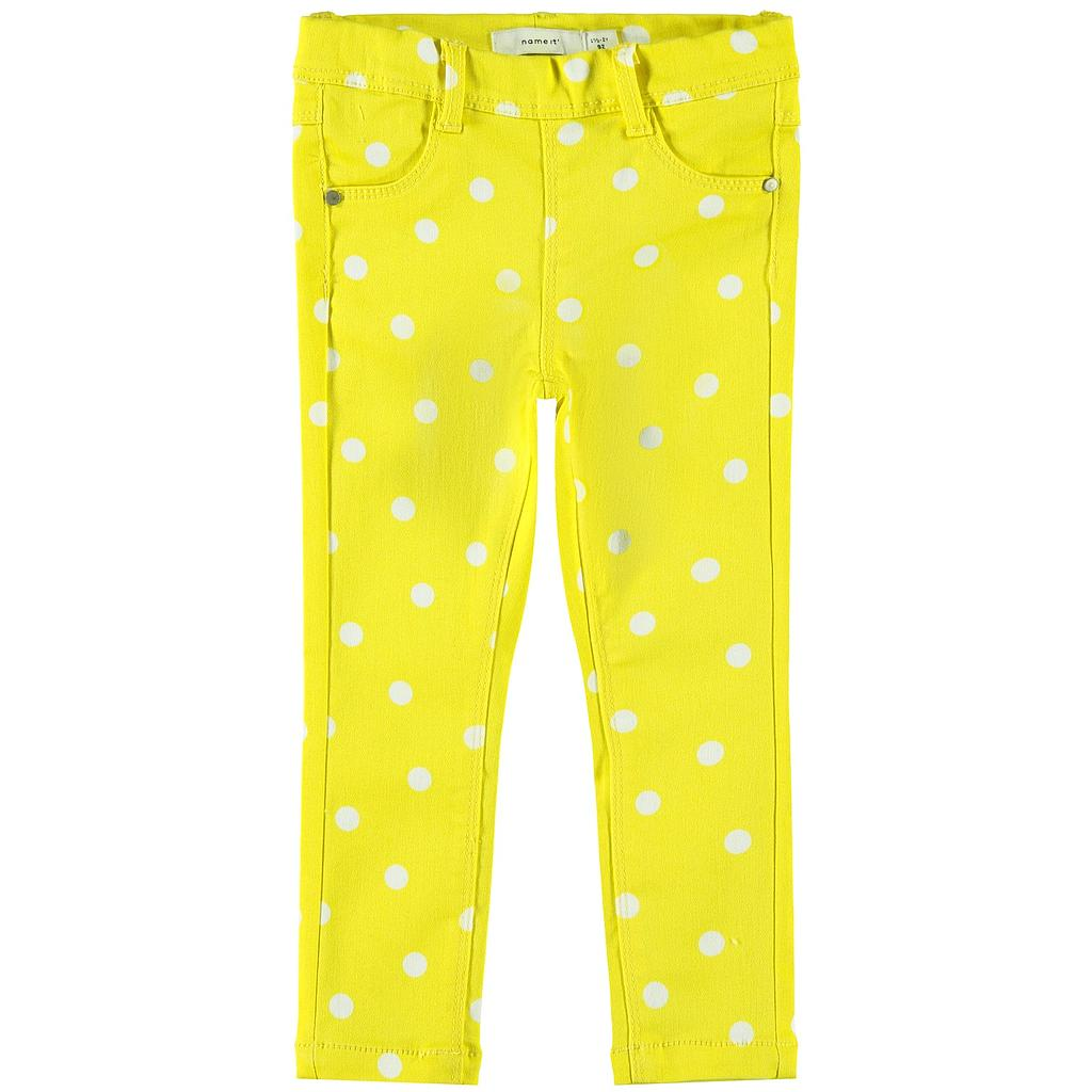 NAME IT MINI - NMFPOLLY TWIATINNA AOP LEGGING CD - Aspen Gold AOP WITH BRIGHT WHITE DOTS