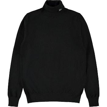 NAME IT KIDS - NKMROLOS LS ROLLNECK KNIT - Black