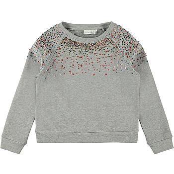 NAME IT KIDS - NKFNAIMMA LS SWEAT BRU - Grey Melange