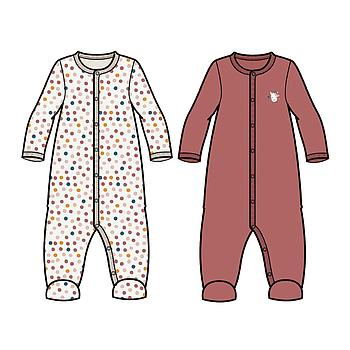 NAME IT BABY - NBFNIGHTSUIT 2P W/F WITHERED ROSE NOOS - Withered Rose