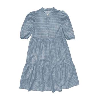 NAME IT KIDS - NKFSMILA 2/4 MIDI DRESS - Dusty Blue
