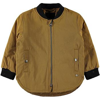 NAME IT MINI - NMMMIMON LONG BOMBER JACKET - Bronze Brown