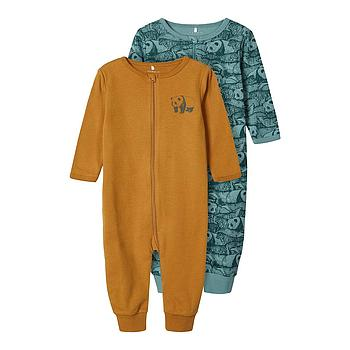 NAME IT BABY - NBMNIGHTSUIT 2P ZIP TRELLIS ANIMAL NOOS - Trellis